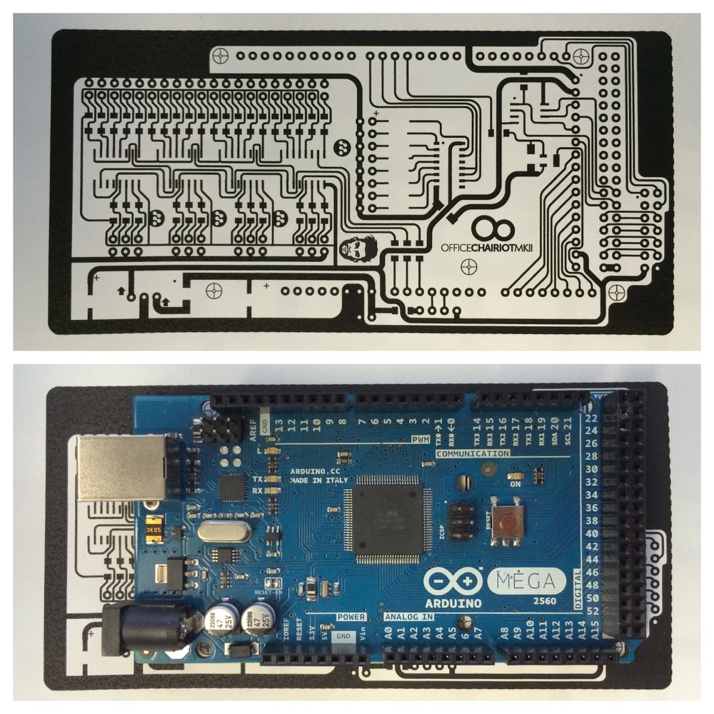 Office Chairiot Arduino Mega Shield Main Board
