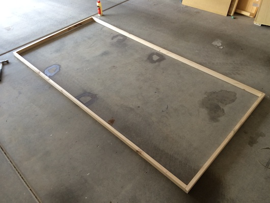 Large Foam Core Support Frame from Single 2x4
