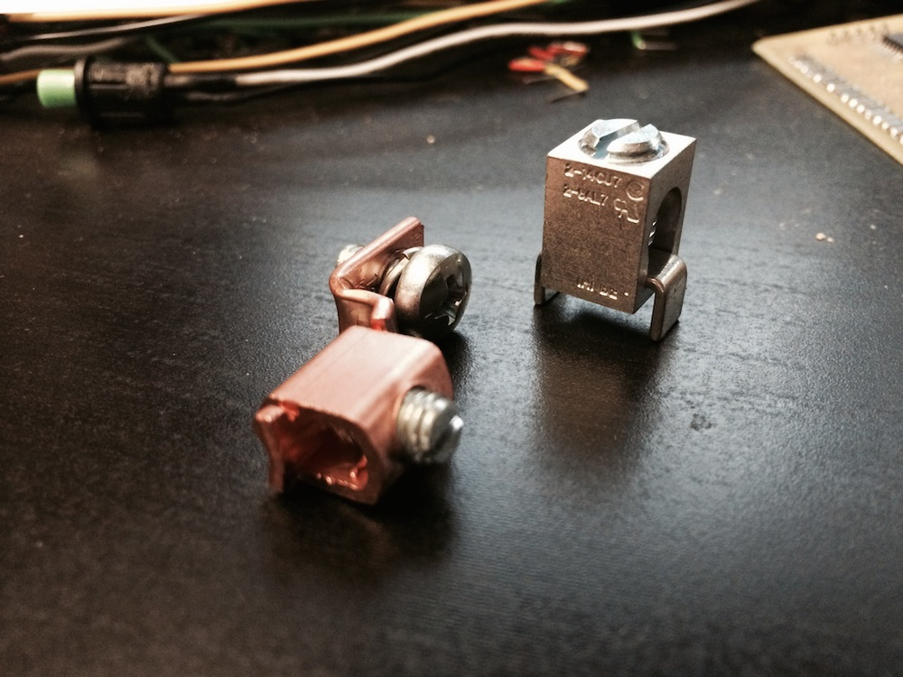 Old Copper Wire Lug vs New Solderable Lug