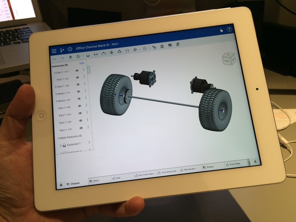 Onshape running on my iPad