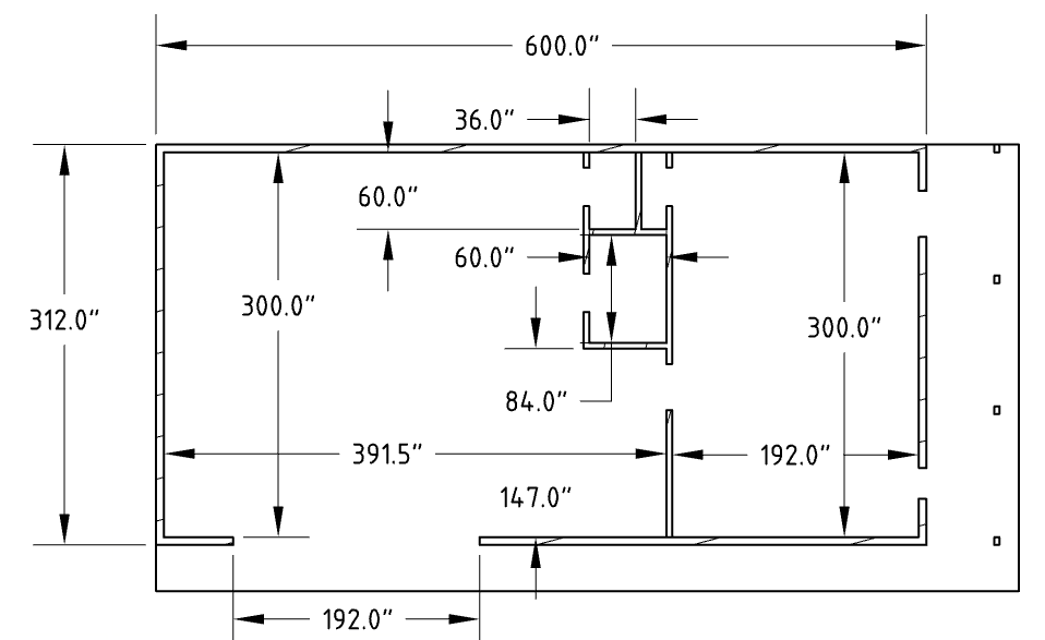 Floor plan of detached workshop