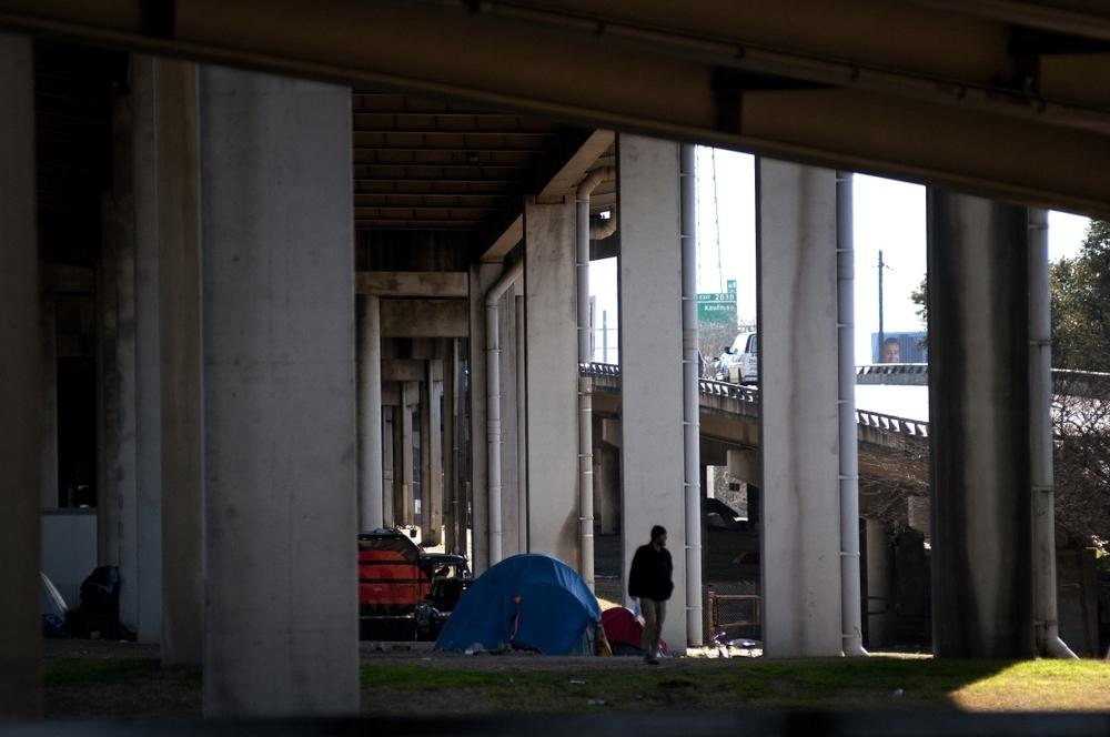 """The original """"Tent City."""" Photo by Christena Dowsett."""