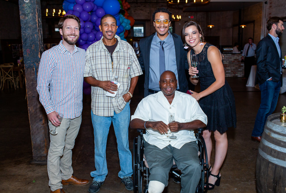 Vincent enjoying our 5 Year Celebration on September 6 with Brett, Willie, Mike, and Elli.