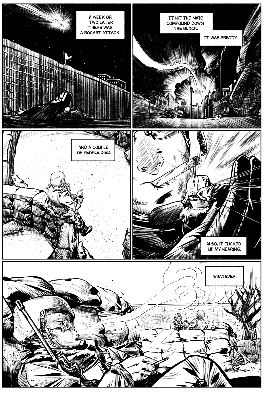 Inked Page Sample -  Once A Marine