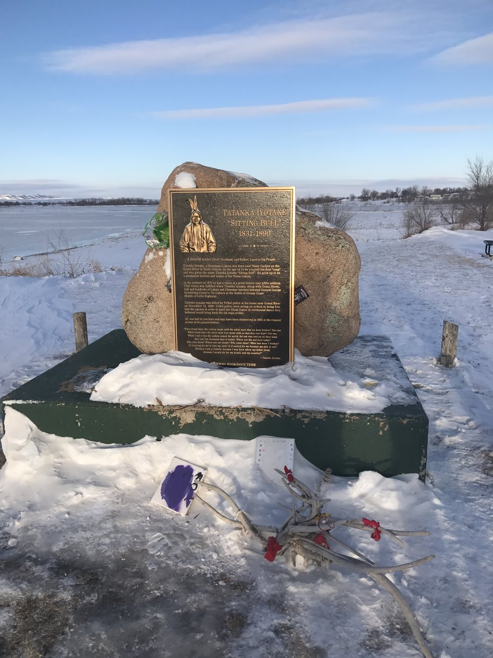 Sitting Bull's grave before his body was moved.