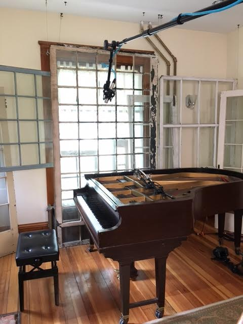 Beehive's 1923 Chickering piano. Topless!