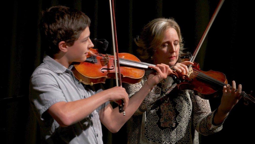 Gretchen Koehler & her son, Sylvain.
