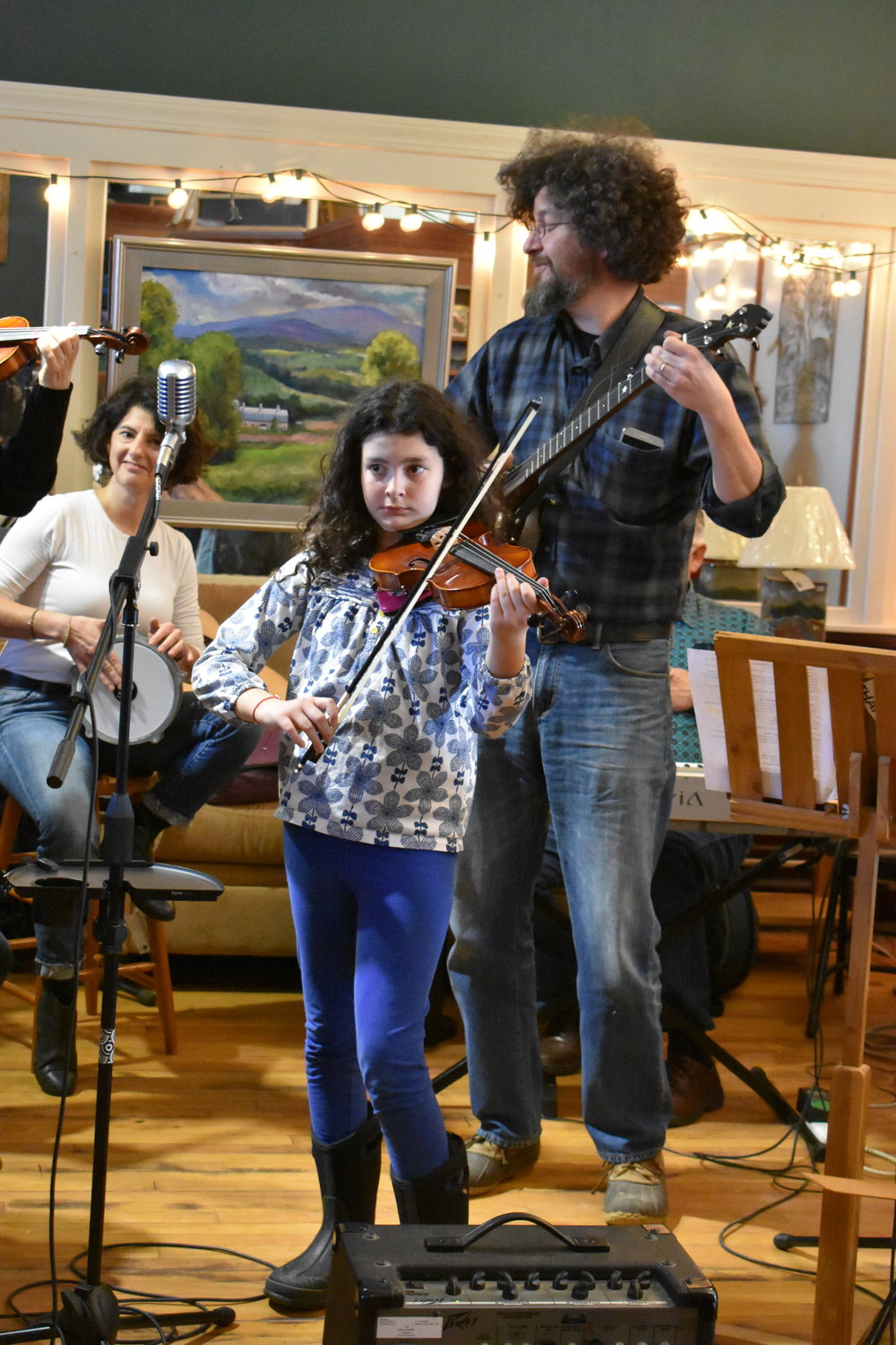 """Daughter + dad play """"100 Pipers."""""""