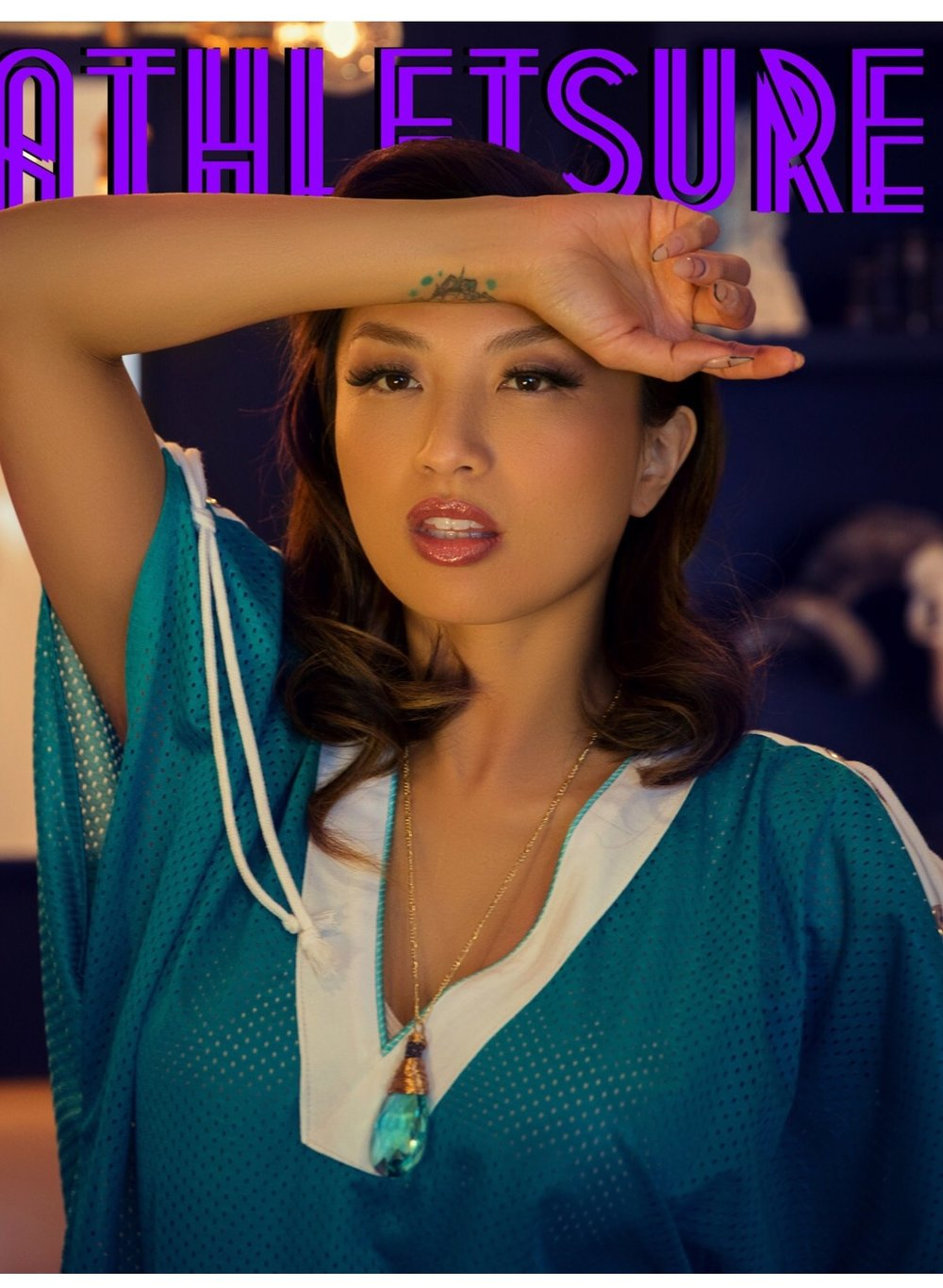 Jeannie Mai of Fox TV's The Real in Abby May Jewelry on the cover