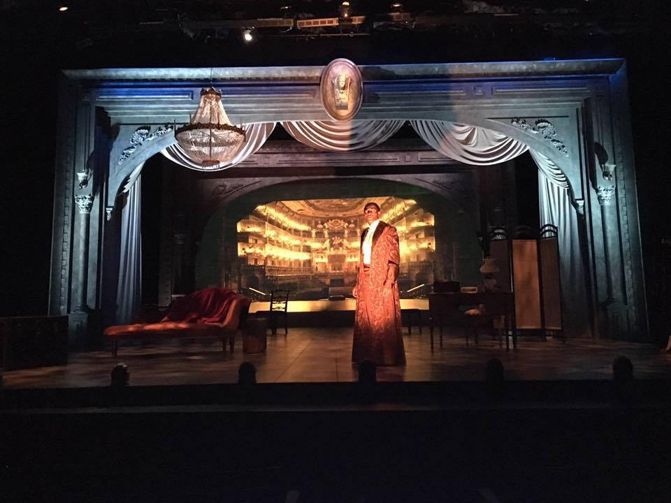 "Red Velvet/ San Francisco Playhouse/ 2016   ""The San Francisco Playhouse production is beautifully mounted. Pointedly furnished and filled with  Theodore J.H. Hulsker 's fine and fitting projections,  Gary English  set frames the action in an elegant proscenium. The flickering, shadow-haunted light (by Kurt Landisman), ghostly sound design (Hulsker again) and sumptuous but aptly confining costumes (Abra Berman) cast a palpable enchantment.""  -San Francisco Chronicle"