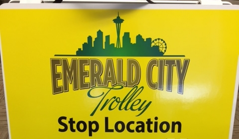 These A-Frame signs will be at every Scenic Downtown Trolley Tour stop.