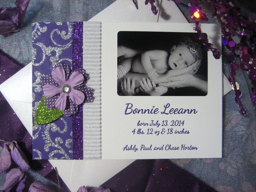 birth announcements from Proton Paperie & Press  www.etsy.com/shop/protonpaperie