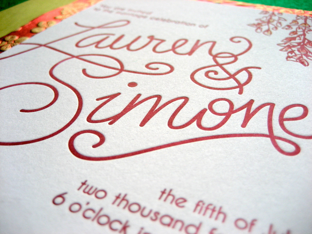 Letterpress & watercolor invitation  Proton Paperie & Press