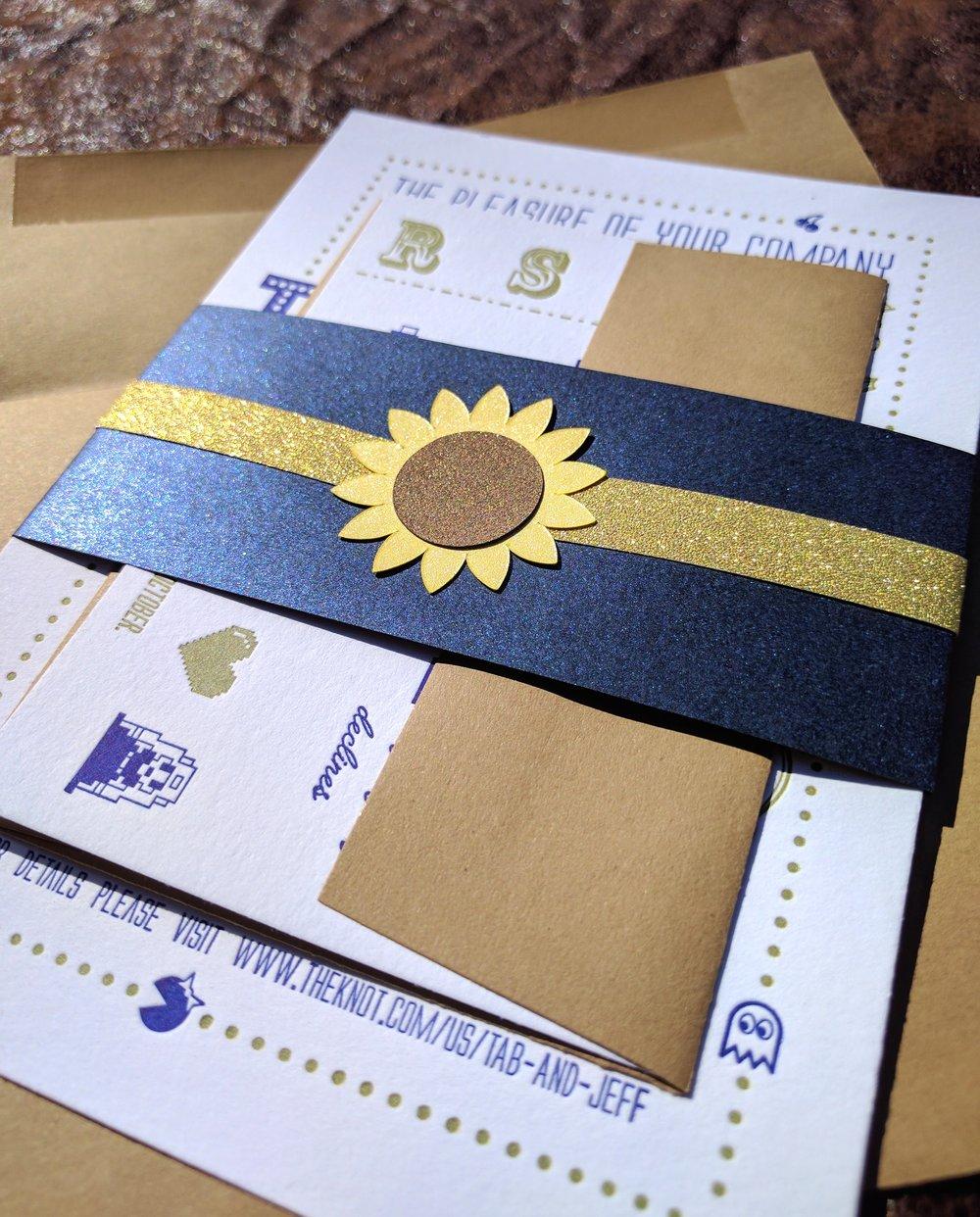 Nerdy Wedding Invites: Proton Paperie & Press