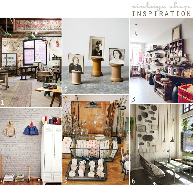 1.vintage/industrial store Repop | The Design Files  2. wooden spools | twig home 3. atomic garden in oakland | SF Girl by Bay  4. hanging clothes and lockers |  Milk Magazine 5. shop display, Oh Hello Friend |Poppytalk  6. trays on the wall | Poppytalk