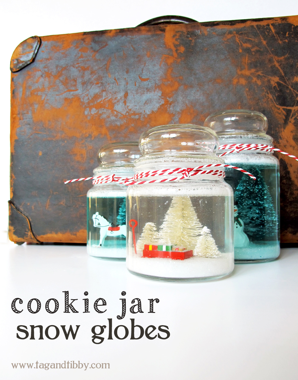 how to make a cookie jar snow globe!