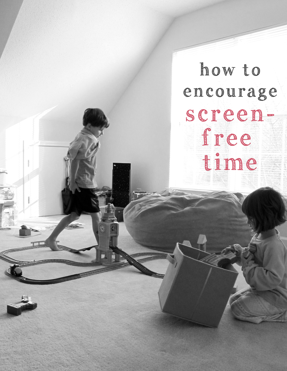 how to encourage screen-free time