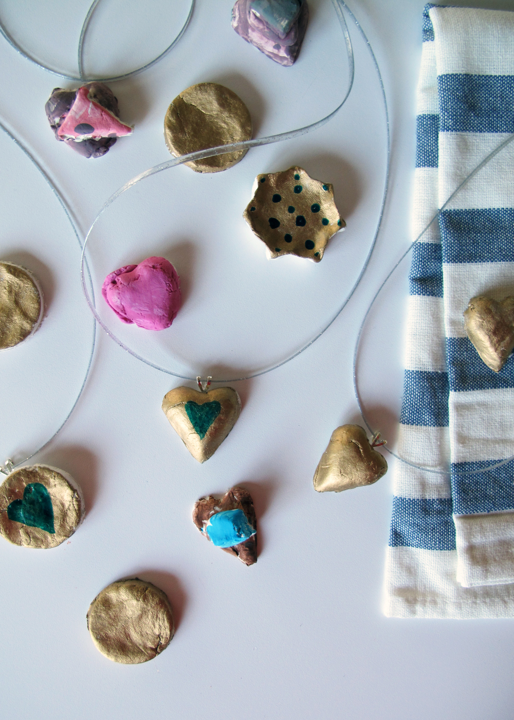 family friendly clay necklaces