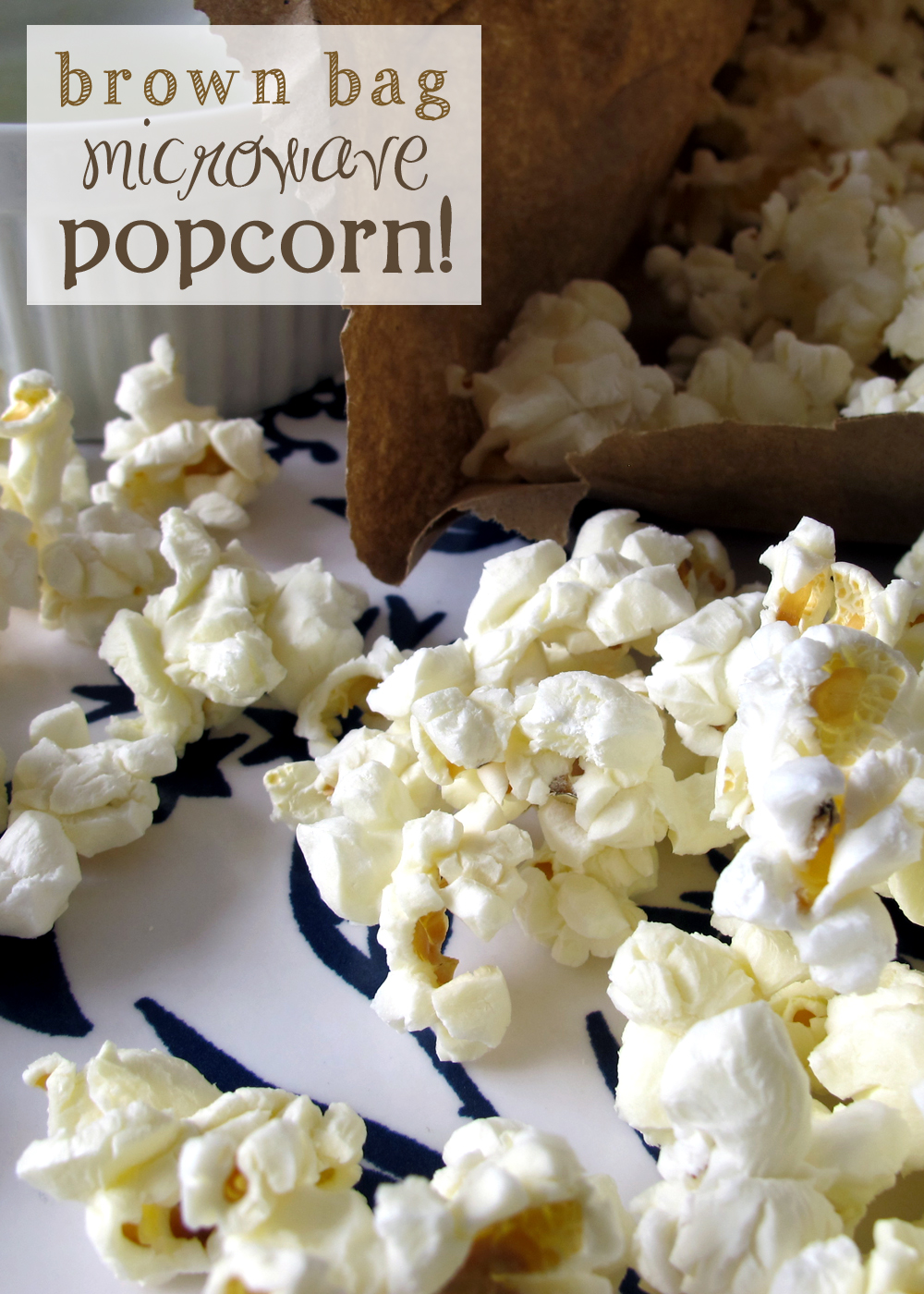 brown bag microwave popcorn. a healthy family friendly snack!