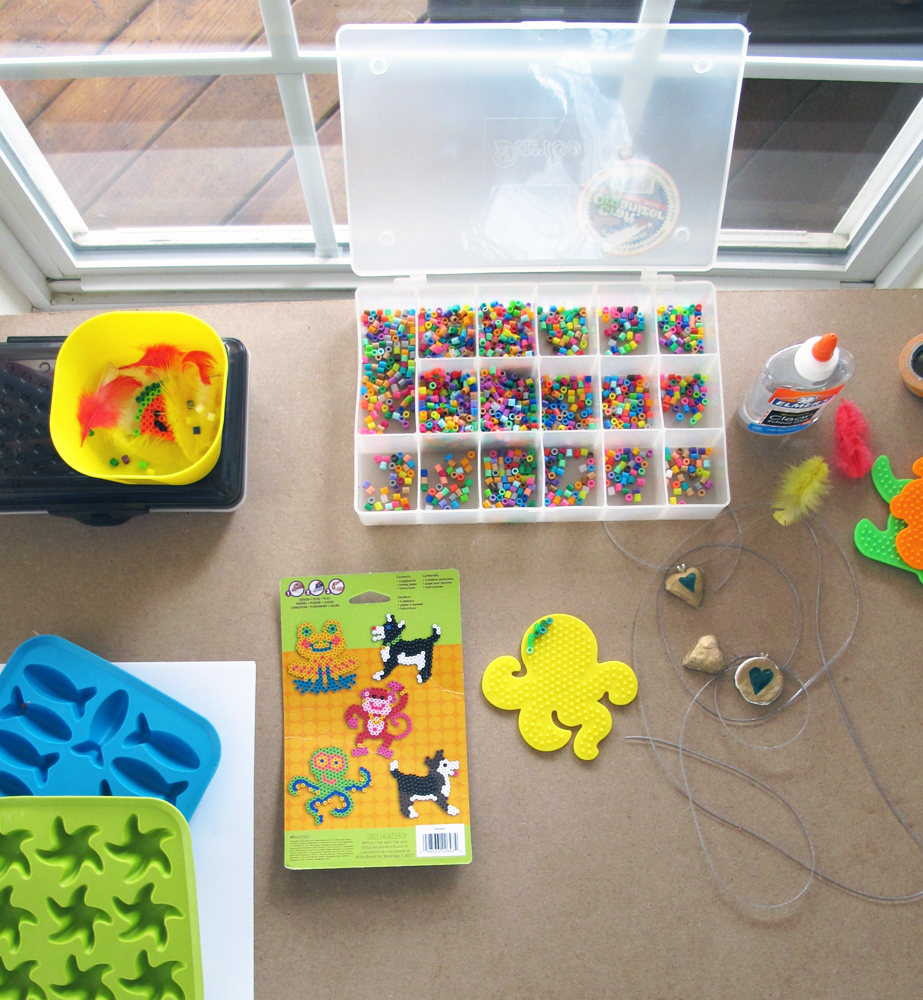 craft table supplies