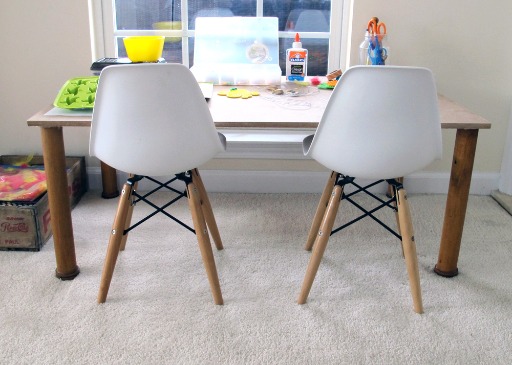 how to make a craft table tutorial