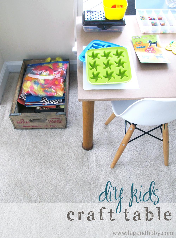 DIY industrial kids craft table