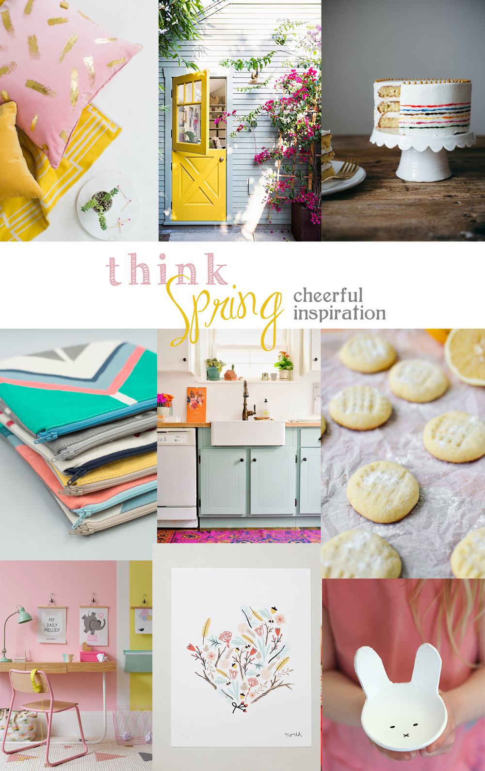 cheerful spring inspiration | tag&tibby