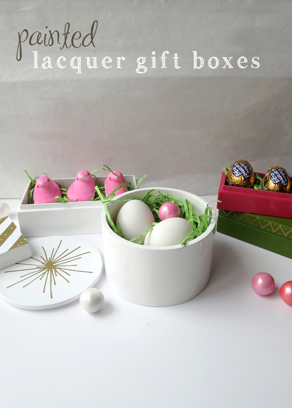 painted lacquer gift boxes diy | tag&tibby