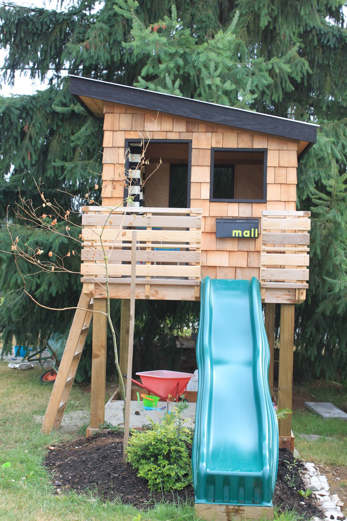 modern cedar playhouse