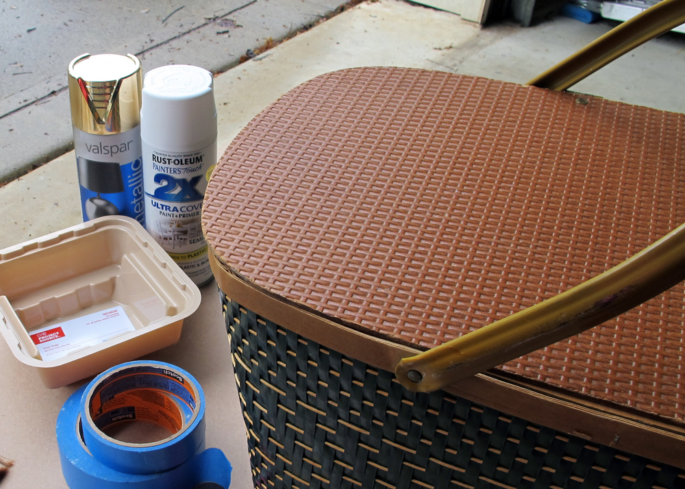painting a picnic basket how-to