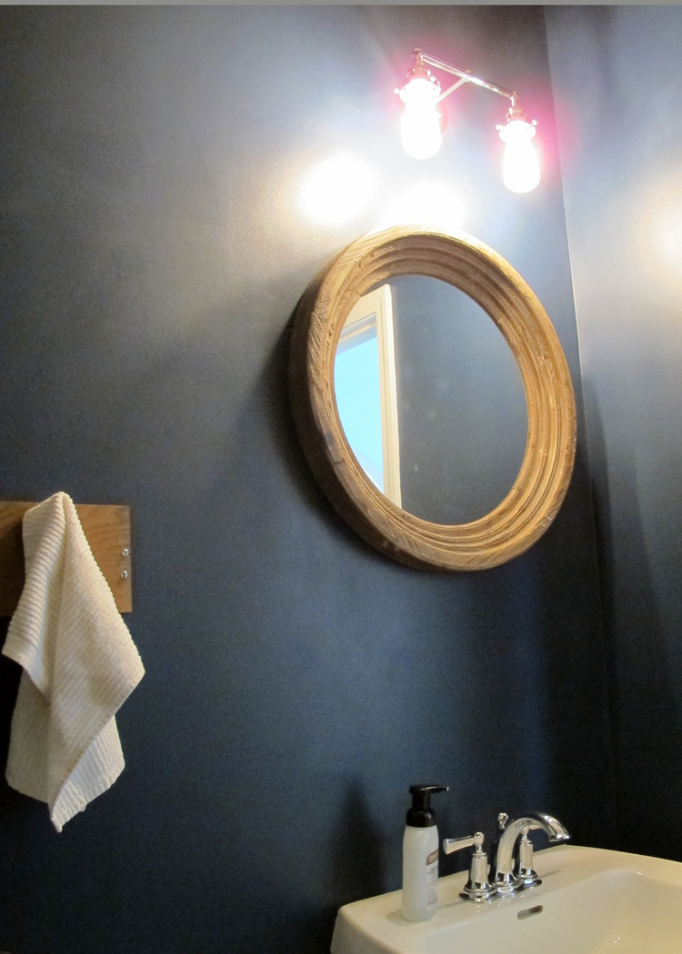 Bathroom Makeover For Under $1000 nautical themed half-bath makeover — tag & tibby