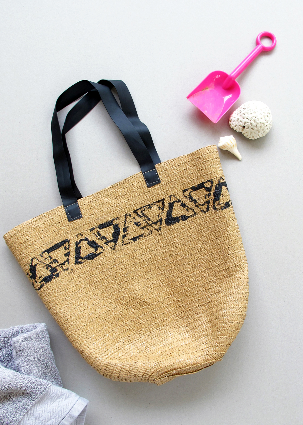 triangle beach bag DIY