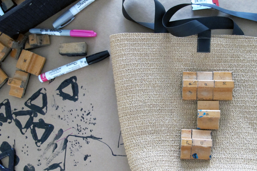 tips for stamping a beach bag
