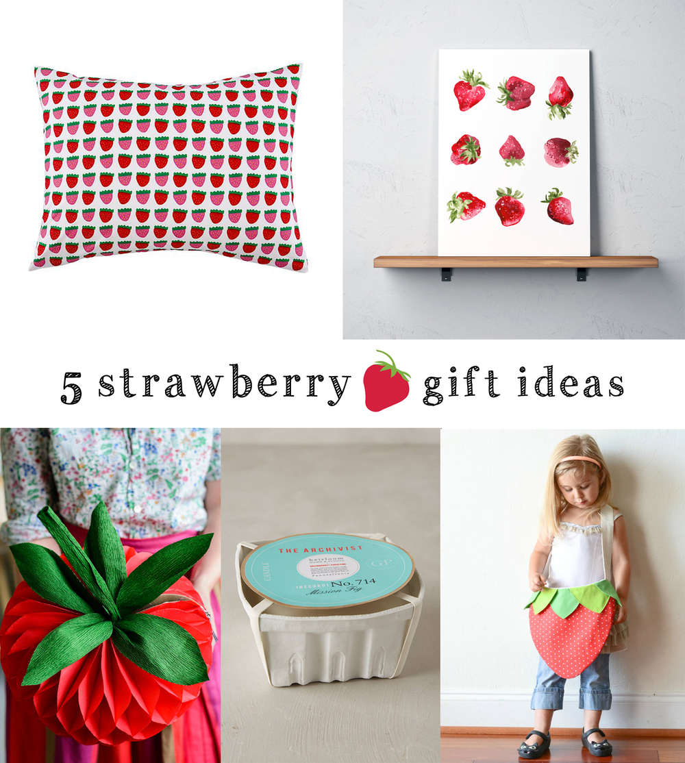 strawberry themed gift ideas | tag&tibby