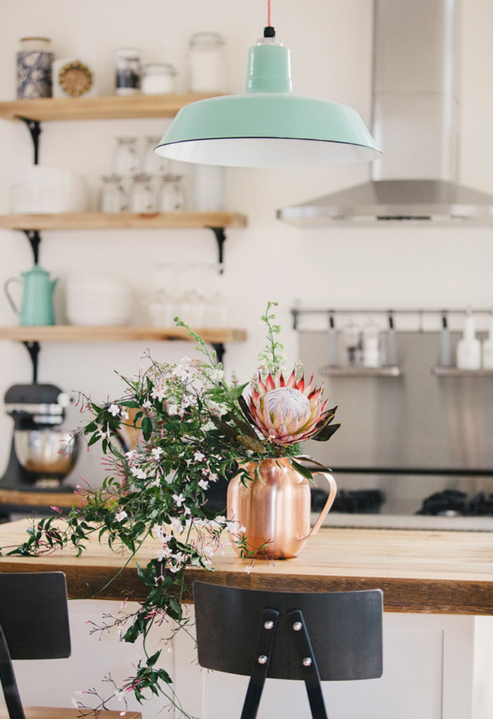 A delightful kitchen  via desire to inspire
