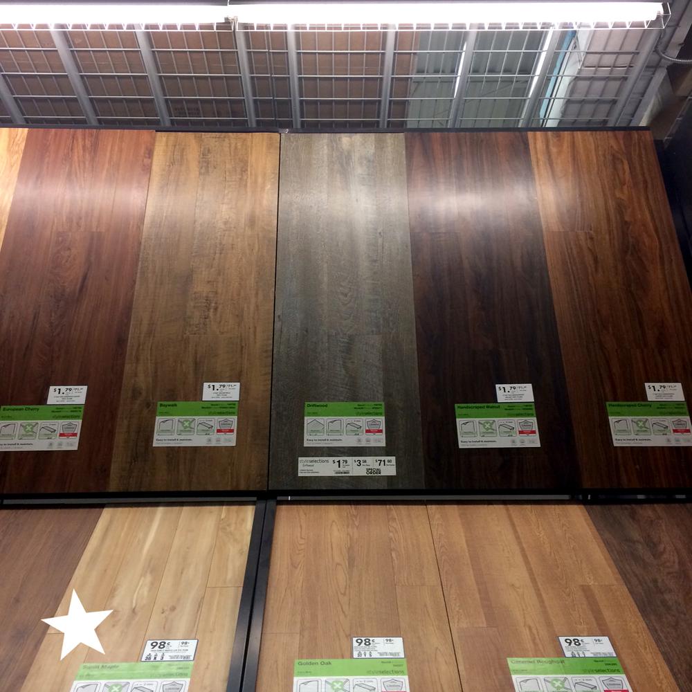 Linoleum Faux Wood Flooring: DIY Faux Wood Plank Wall