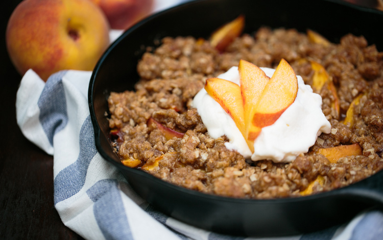 homemade peach crisp recipe