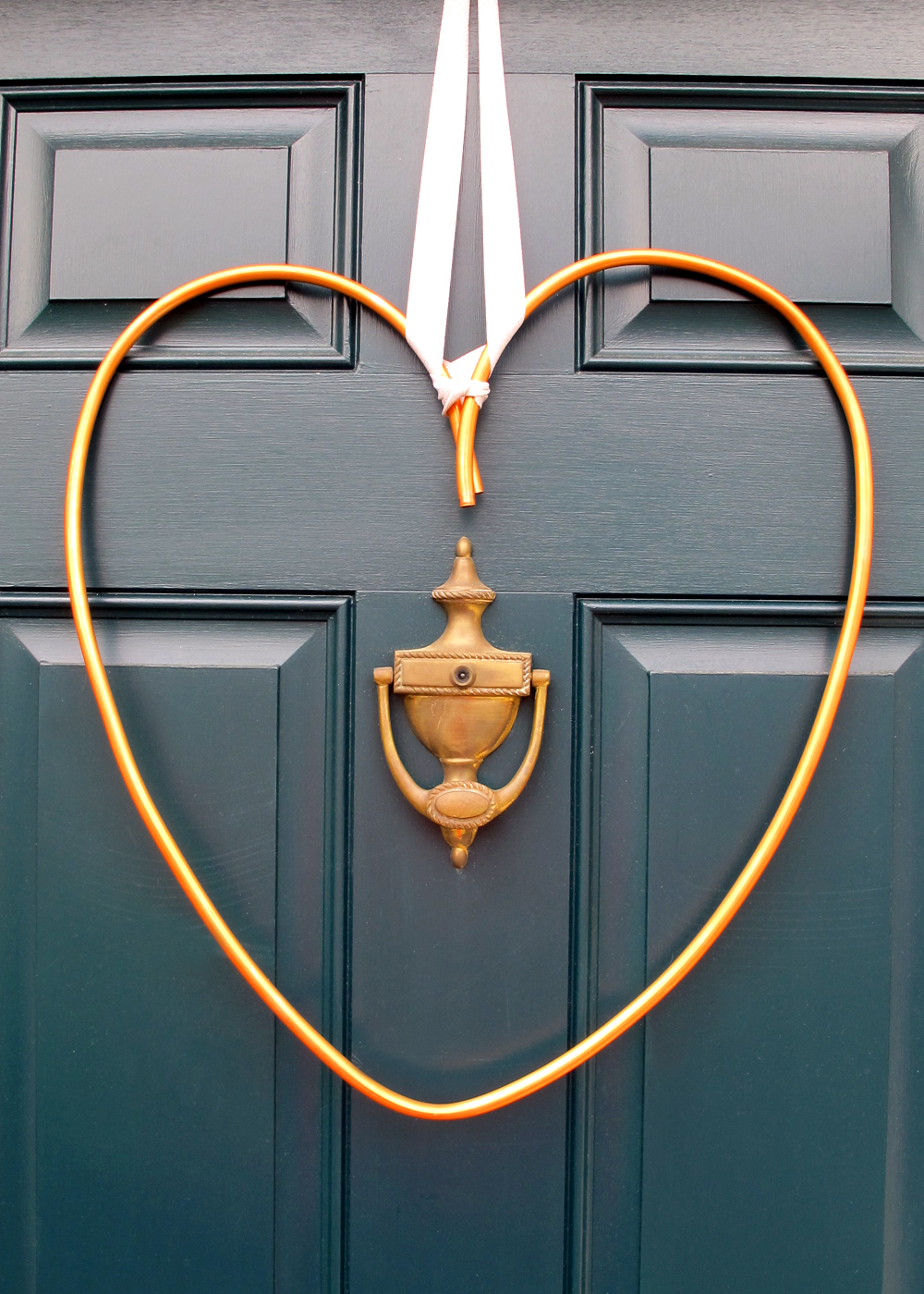 simple industrial copper heart wreath