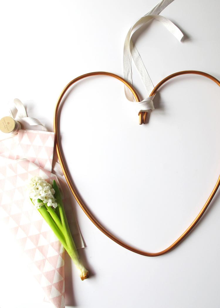 Copper Heart Wreath DIY — Tag & Tibby Design