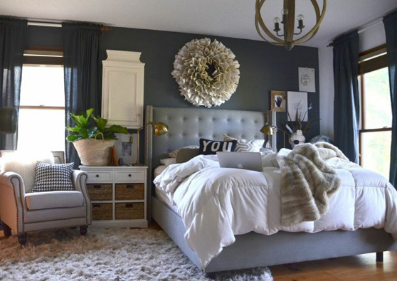 Peppercorn was recently used ina bedroom makeoverat the Nesting Place. I like how she threw in whites and lighter grays to keep the space bright.
