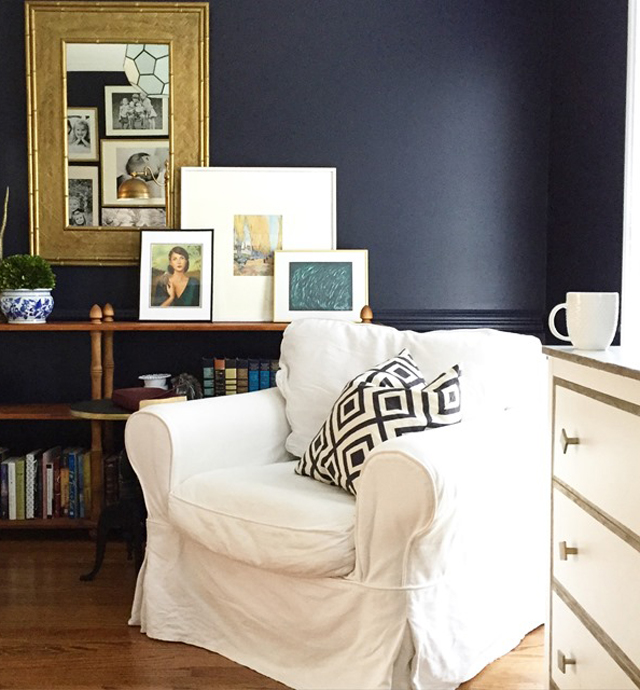 navy blue chair rail by emily a clark