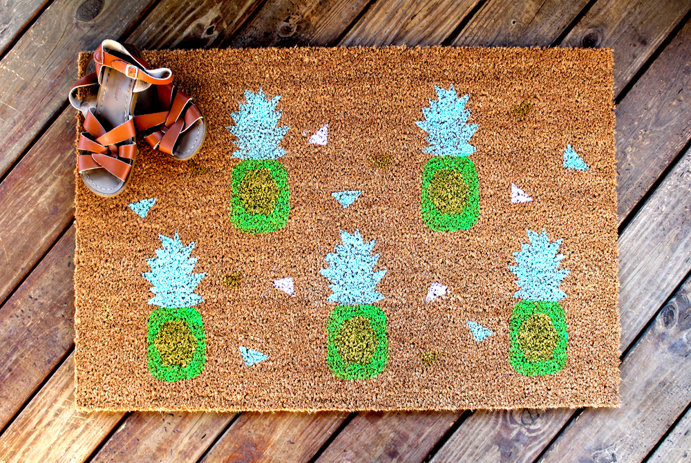 pineapple doormat DIY