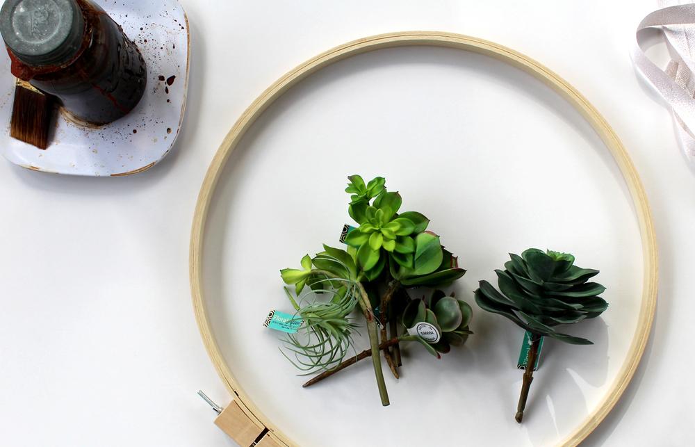 succulent wreath supplies