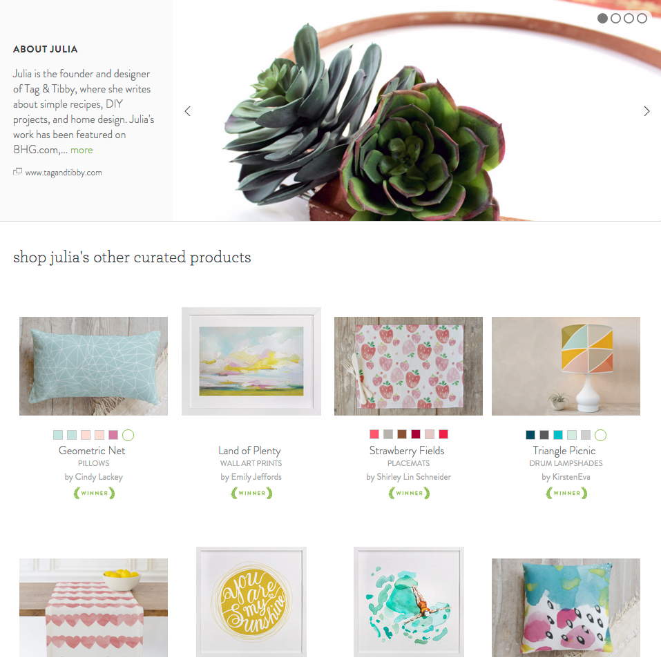 Announcing a Tag&Tibby Curator Shop with Minted Home