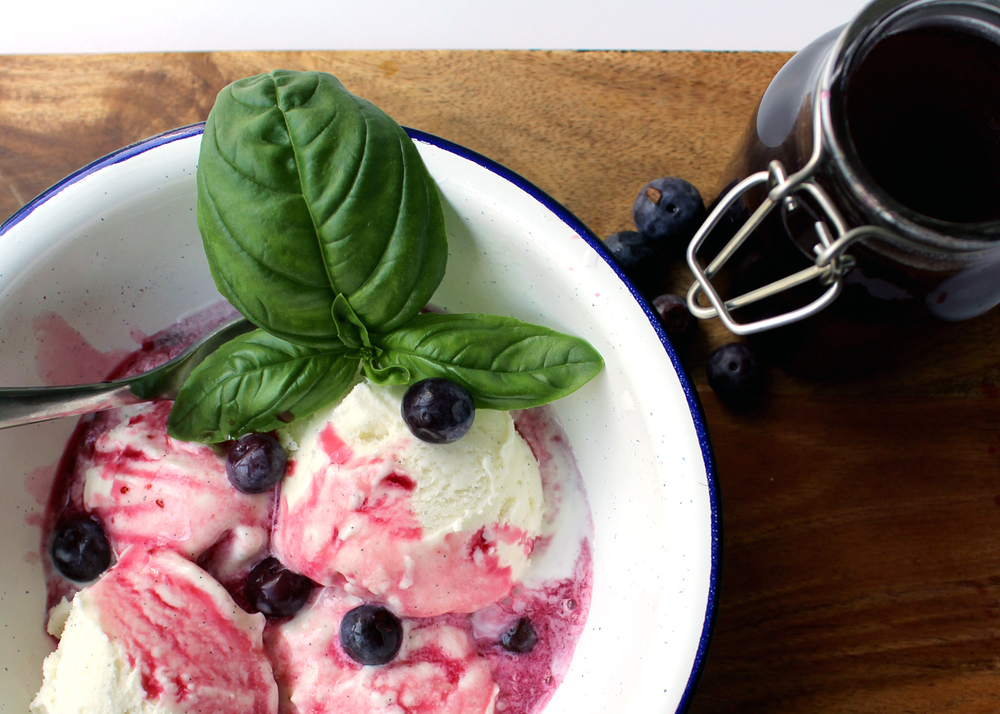 use leftover blueberries and basil to make this delicious syrup