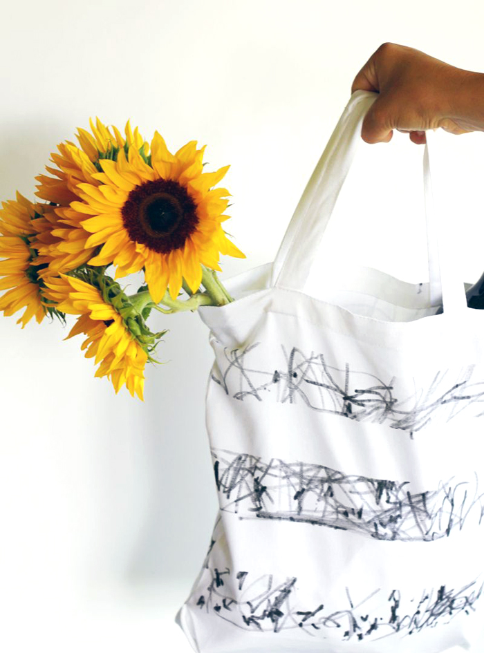 DIY scribble tote by Small + Friendly