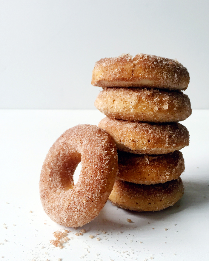 baked cinnamon sugar donuts by Feast + West