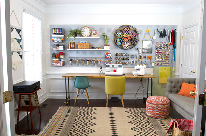 a creative home office makeover by Andrea's Notebook