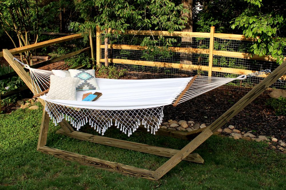 diy wood hammock stand diy custom wood hammock stand  u2014 tag  u0026 tibby  rh   tagandtibby