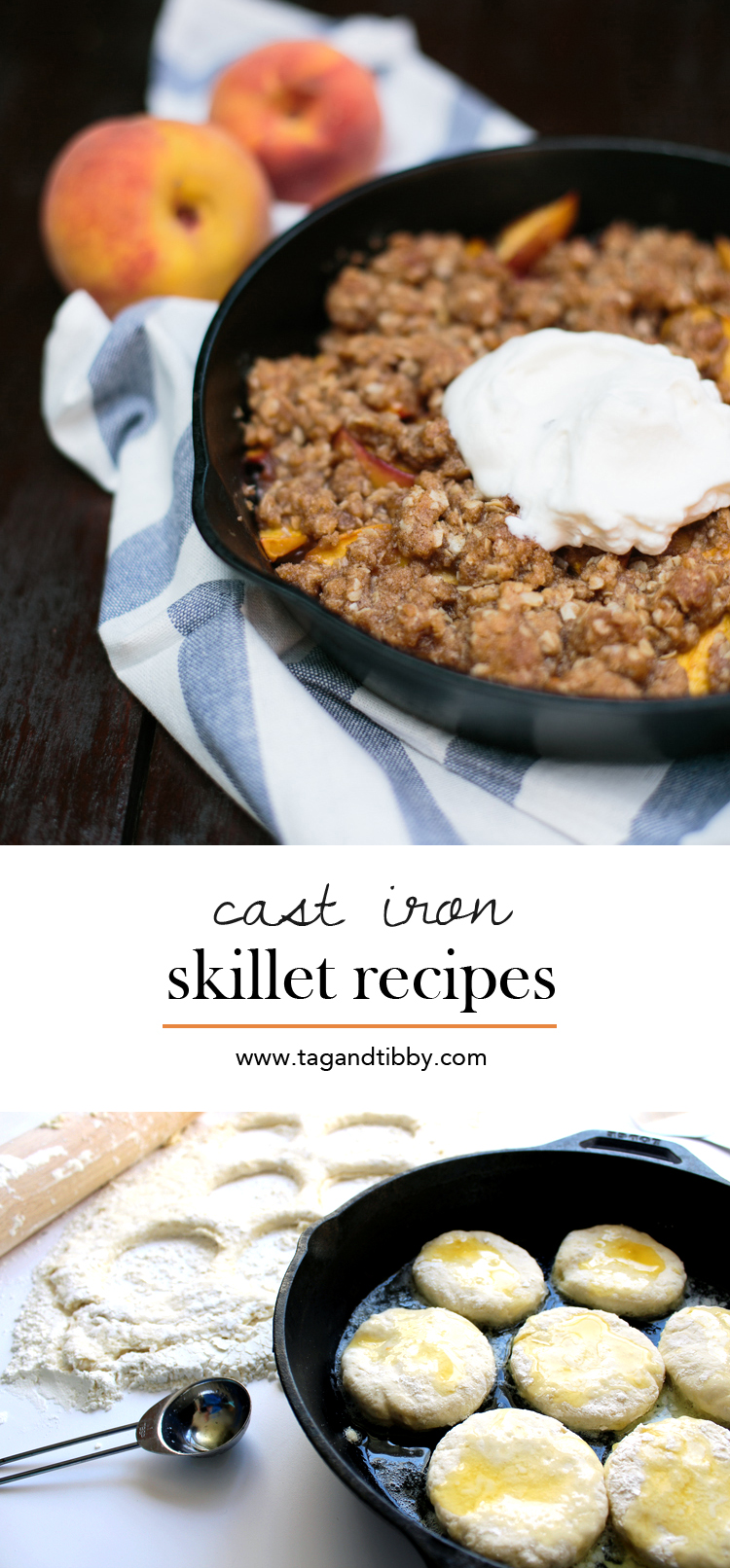 5 Classic Cast Iron Skillet Recipes via Tag&Tibby